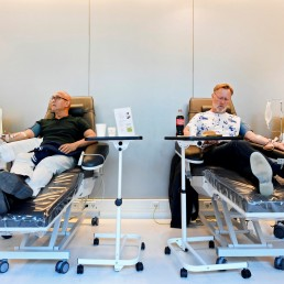 People donate blood plasma, following the coronavirus disease (COVID-19) outbreak, at Sanquin blood bank in Amsterdam, Netherlands, May 19, 2020. REUTERS/Piroschka van de Wouw