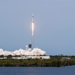 A SpaceX Falcon 9 rocket and Crew Dragon spacecraft carrying NASA astronauts Douglas Hurley and Robert Behnken lifts off during NASA's SpaceX Demo-2 mission to the International Space Station from NASA's Kennedy Space Center in Cape Canaveral, Florida, U.S. May 30, 2020. REUTERS/Thom Baur