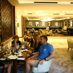 Patrick Affley, have breakfast with his family in the Atlantis The Palm hotel, as the Emirates reopens to tourism amid the coronavirus disease (COVID-19) outbreak, in Dubai, United Arab Emirates July 7, 2020. REUTERS/Ahmed Jadallah