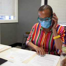 Joyce Elliot, a Democratic U.S. congressional candidate for Arkansas' 2nd district (AR-02) which represents Little Rock and the surrounding areas, works from her office in Little Rock, Arkansas, U.S., July 20, 2020. REUTERS/Gerard Matthews